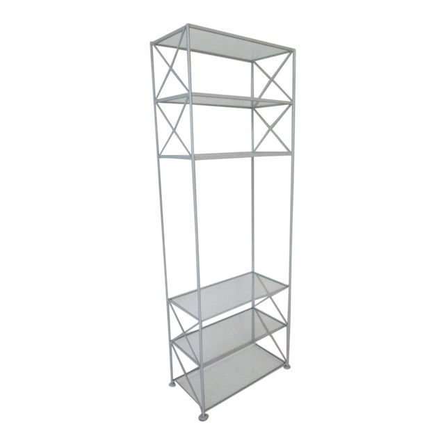 Russell Woodard Iron and Glass Etagere or Bookcase For Sale
