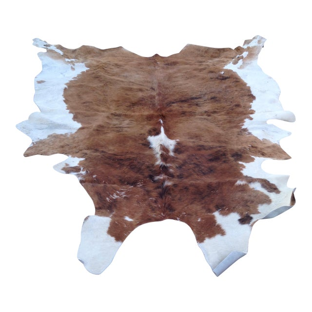 Brazillian Chestnut and Mahogany XL Cow Hide Rug For Sale