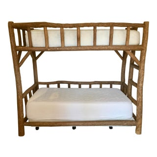 "Janus Et Cie, La Lune Collection Rustic Carved ""Tree Branch"" Twin Bunk Beds"