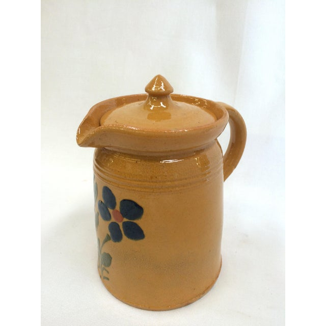 1920s French Yellow Ware Pitcher - Image 2 of 7