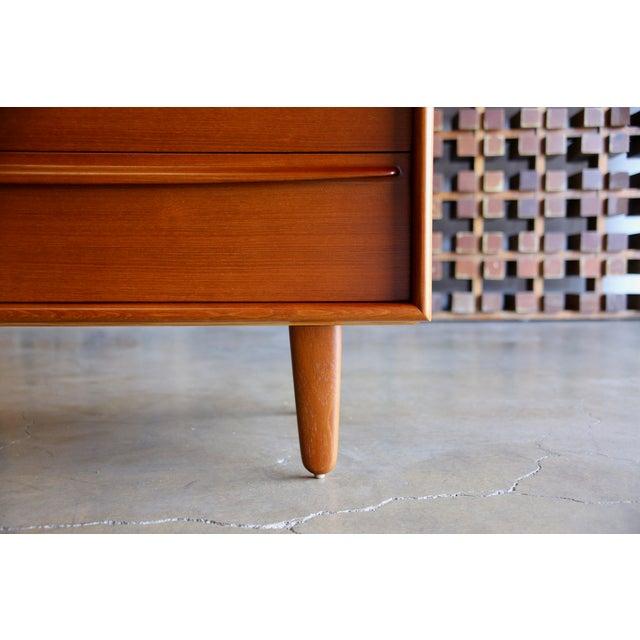 Danish Modern Mid Century Danish Modern Svend Aage Madsen for Falster Mobelfabrik Teak Highboy Dresser For Sale - Image 3 of 9