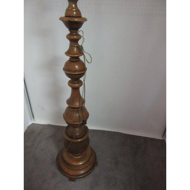 1950s 1950s Mid Century Italian Beechwood Oversized Floor Lamp For Sale - Image 5 of 7