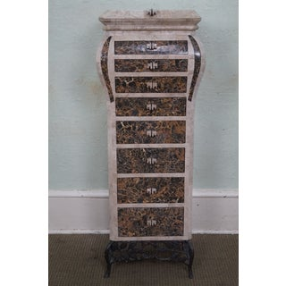 Maitland-Smith Style Tessellated Marble Jewelry Chest Preview