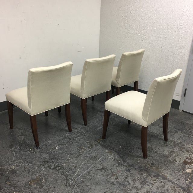 Room & Board Marie White Dining Chairs - Set of 4 - Image 5 of 8