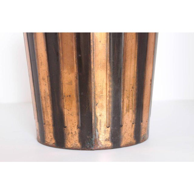 Black Machine Age Art Deco Industrial Arts Waste Receptacle by Erie Art Metal For Sale - Image 8 of 11