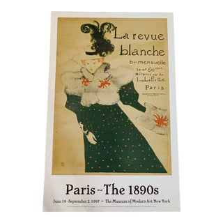 1997 Toulouse-Lautrec Paris Museum of Modern Art Poster For Sale
