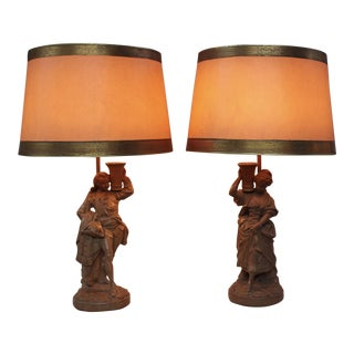 """Borghese"" Terracotta Finish Lamps - a Pair For Sale"
