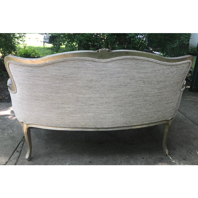 Silver Leaf French Settee For Sale In Chicago - Image 6 of 11