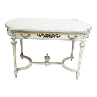 Swedish Louis XVI Style Library Table For Sale