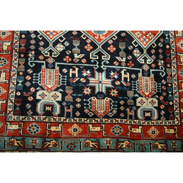 This is a genuine handmade Persian rug. The rug that I am offering here was made back in 1980's, it was made in Ghocahn...
