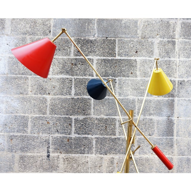 Memphis Angelo Lelli for Arredoluce Triennale Floor Lamp For Sale - Image 3 of 11