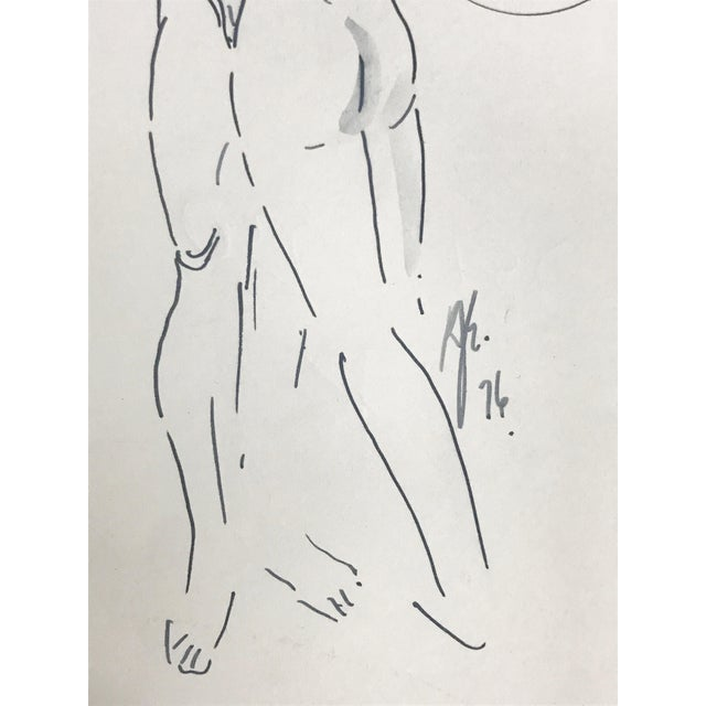 Abstract Figurative Nude Drawing of Couple by Richard Ericson For Sale - Image 4 of 6