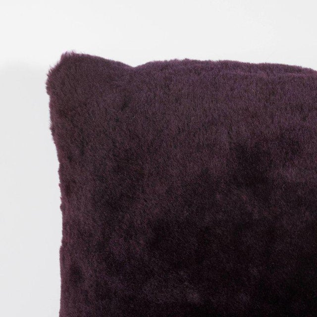 Custom Handmade Pillows in Luxe Smoked Amethyst Loro Piana Cashmere For Sale - Image 4 of 9