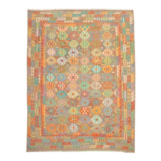 Turkish Kilim Rug-9′8″ × 13′ For Sale