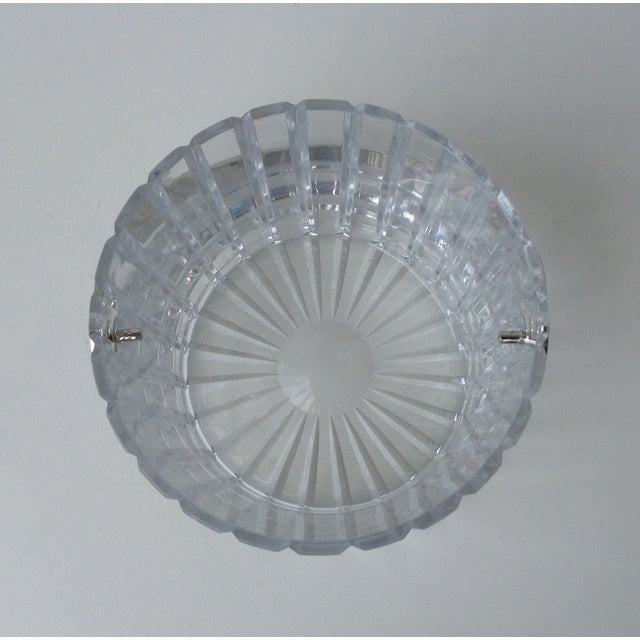 Crystal Faceted Ice Bucket With Chrome Handle - Image 6 of 11
