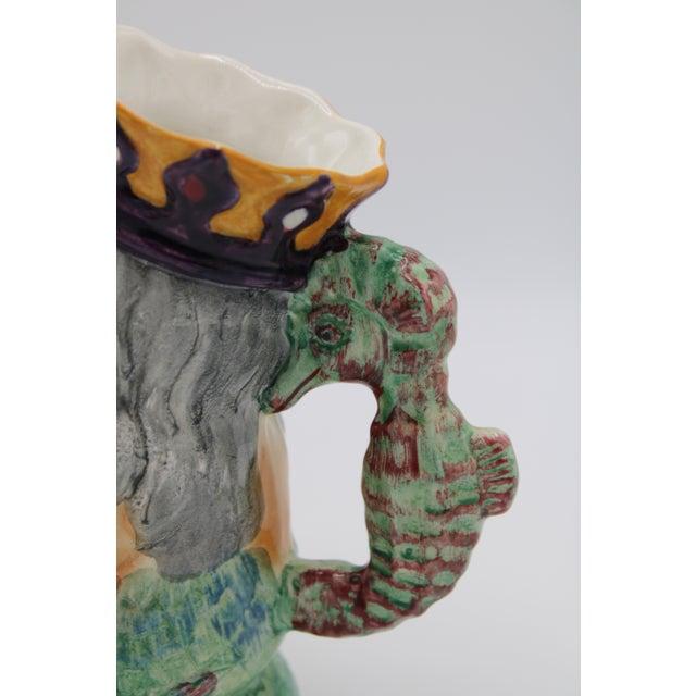 Staffordshire English Staffordshire Father Neptune Nautical Mug / Toby Jug For Sale - Image 4 of 10