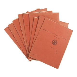 The Bulletin of the Beaux-Arts Institute of Design, 1936-1937 - Set of 9 For Sale