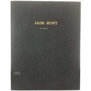 1930s Vintage Jade Hunt Book Signed by A. Livingston Gump For Sale