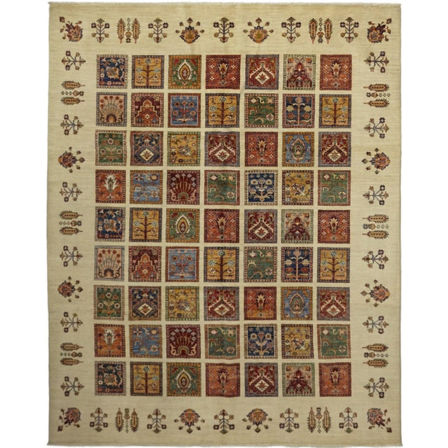 "Traditional Traditional Hand-Knotted Area Rug 8' 0"" x 9' 8"" For Sale - Image 3 of 8"