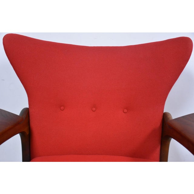 Adrian Pearsall Wing Back Lounge Chair For Sale - Image 9 of 11