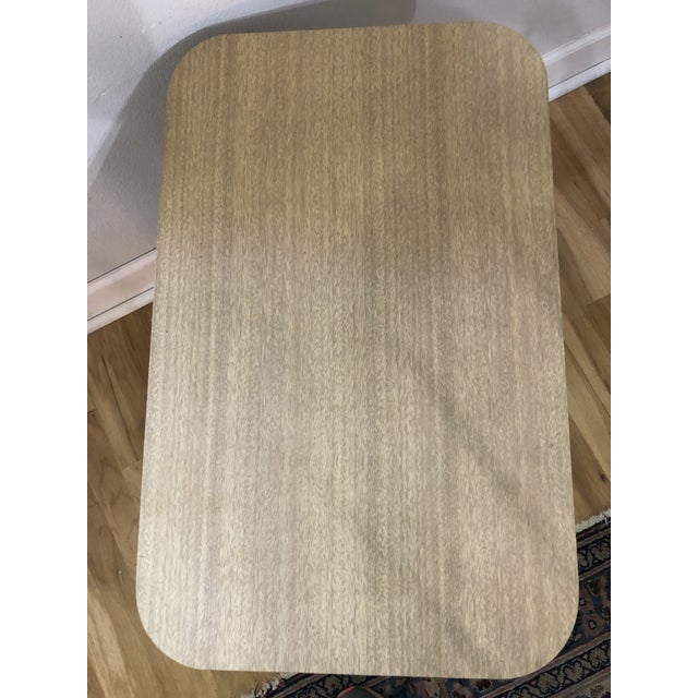 1970s 1970s Boho Chic Rattan Side Table With Laminate Top For Sale - Image 5 of 9