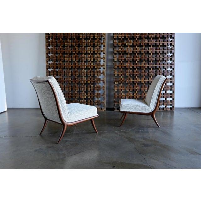 T.H. Robsjohn-Gibbings for Widdicomb Slipper Chairs - a Pair For Sale - Image 12 of 12