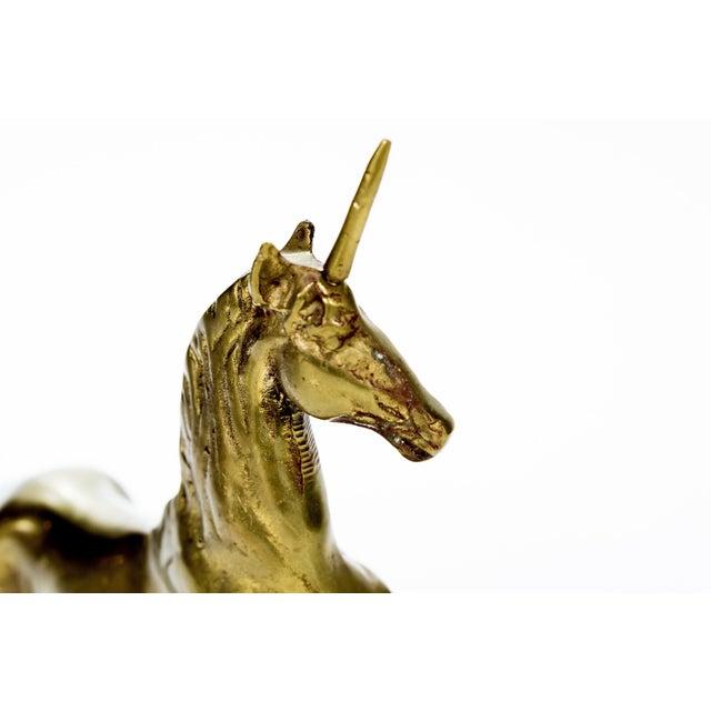 Vintage Large Brass Unicorn - Image 3 of 6