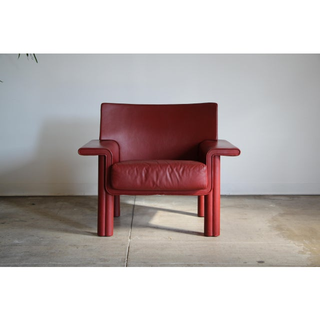 Afra & Tobia Scarpa Leather Lounge Chair For Sale - Image 13 of 13