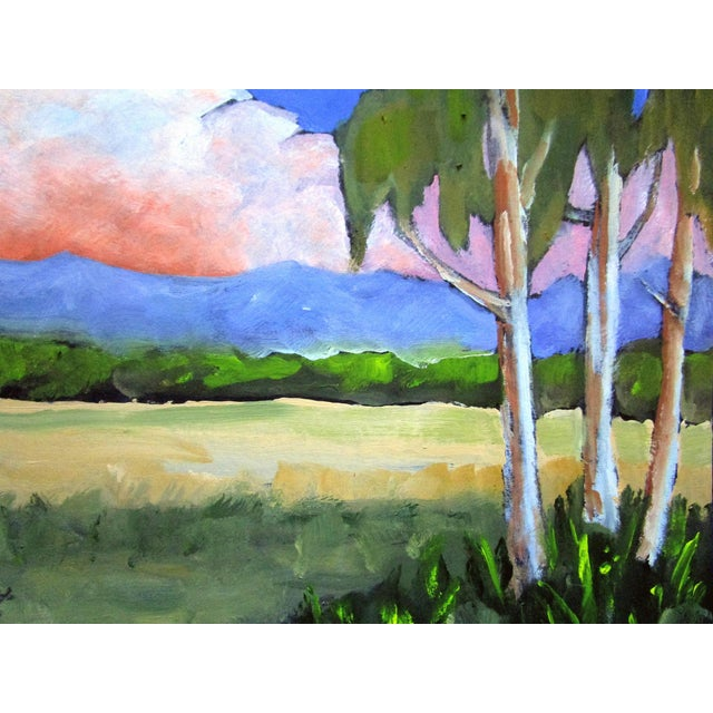 2020s Salinas Valley California Eucalyptus Summer Clouds Landscape Lynne French For Sale - Image 5 of 6