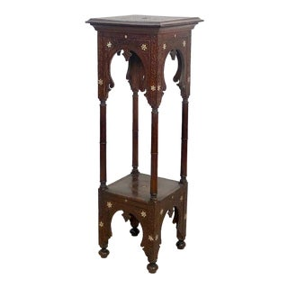 Inlaid Plant Stand, Morocco Circa 1900 For Sale