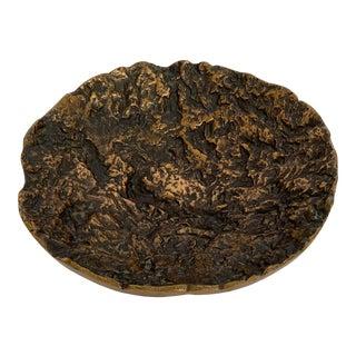 Kaj Blomqvist Brutalist Textured Bronze Bowl For Sale