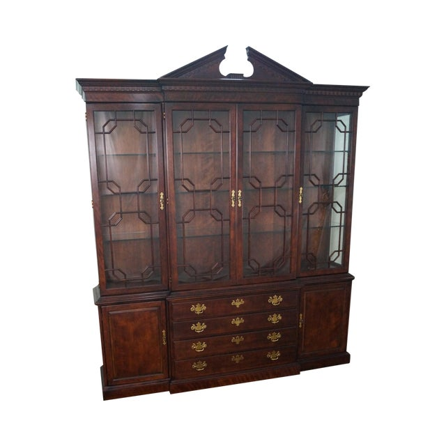Henredon Chippendale Style Breakfront Cabinet - Image 1 of 10