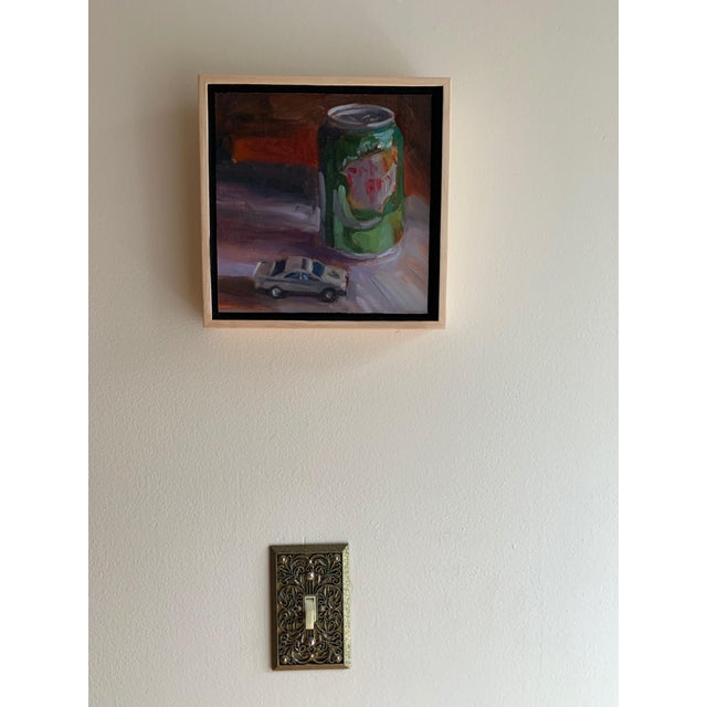 """Canada Dry Gingerale - Ain't that sweet. That is the song from my childhood Tv/Radio Commercials. This painting is 7 x 7""""..."""