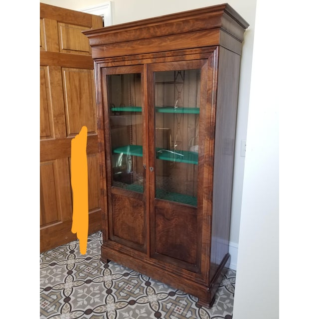 Louis Phillippe Bookcase Vitrine For Sale - Image 12 of 12