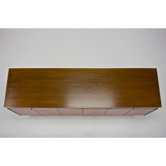 Credenza in Orange leather and Mahogany by Paul McCobb for Calvin For Sale In Boston - Image 6 of 11