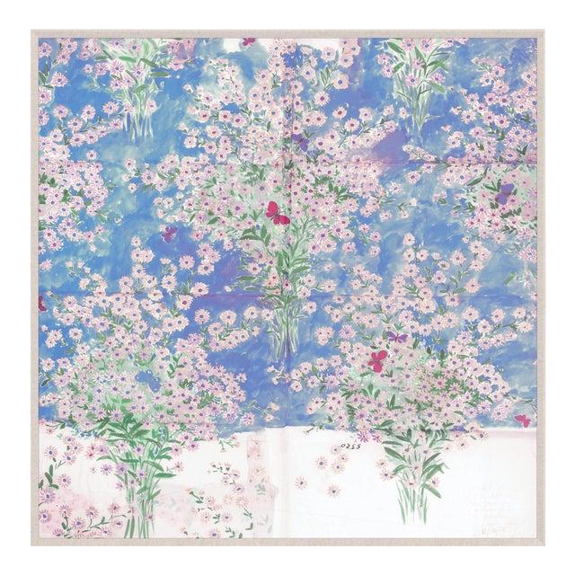 Paule Marrot, Papillons Et Margeurites, Framed Artwork For Sale