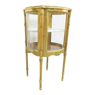 19th Century Louis XVI Gold Gilt Curio For Sale