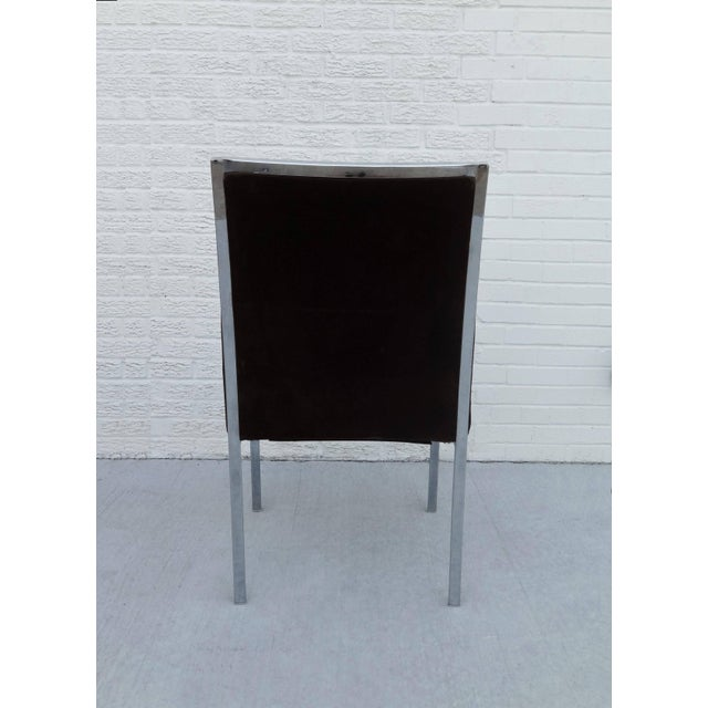 Chrome Set of Six Chrome Dining Chairs by Dillingham in the Style of Milo Baughman For Sale - Image 7 of 10