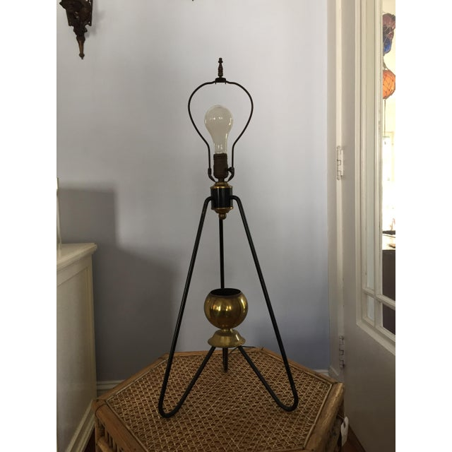 Gerald Thurston for Lightolier Hairpin Tripod Table Lamp - Image 6 of 7