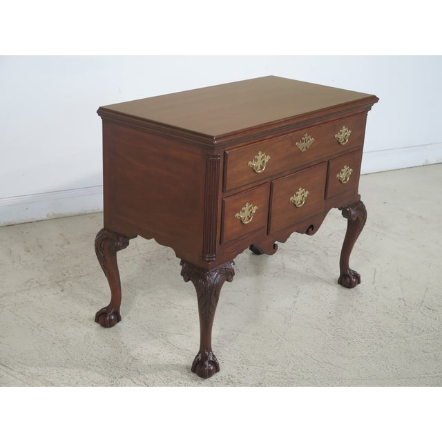 Kittinger CW-19 Colonial Williamsburg Clawfoot Mahogany Lowboy - Image 3 of 11
