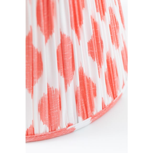 """Signature Ikat in Coral 18"""" Lamp Shade, Peach For Sale - Image 4 of 7"""