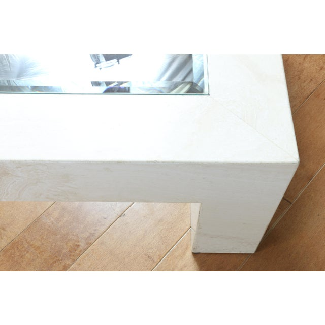 Mid Century Travertine Coffee Table For Sale In Los Angeles - Image 6 of 8