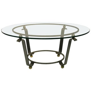 Art Deco Coffee Table or Accent Table Glass Top For Sale