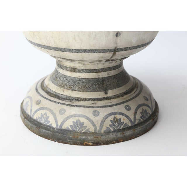Enameled Cast Iron Rouen Urn For Sale - Image 12 of 13