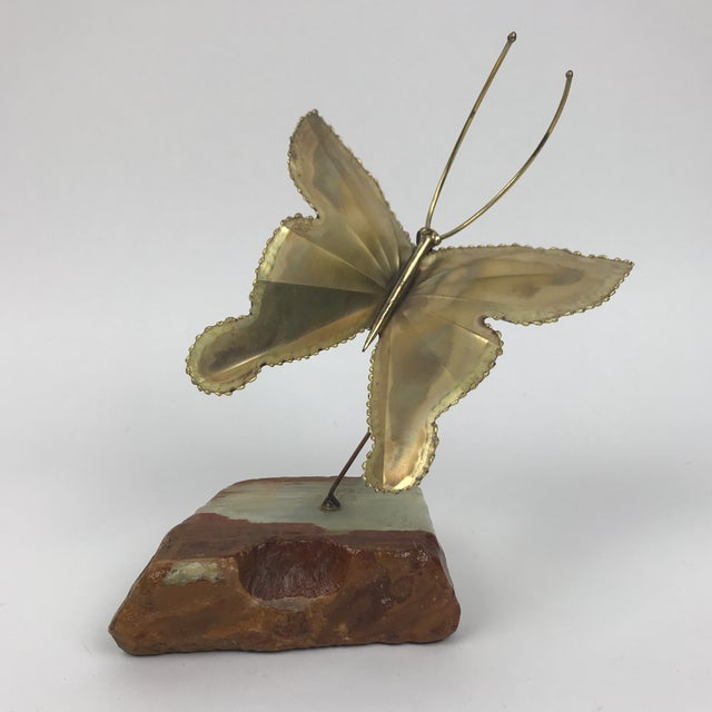 1950s Mid-Century Modern Kinetic Brass Butterfly Sculpture For Sale In Los Angeles - Image 6 of 6