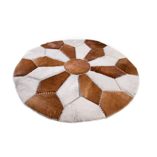 """Cowhide Patchwork Area Rug - 5'9"""" x 5'9"""" - Image 2 of 10"""