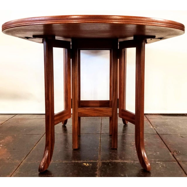 1980s Scandinavian Modern Style Nathan Teak Parker Knoll Drop-Leaf Gate-Leg Occasional Dining Table For Sale - Image 5 of 13