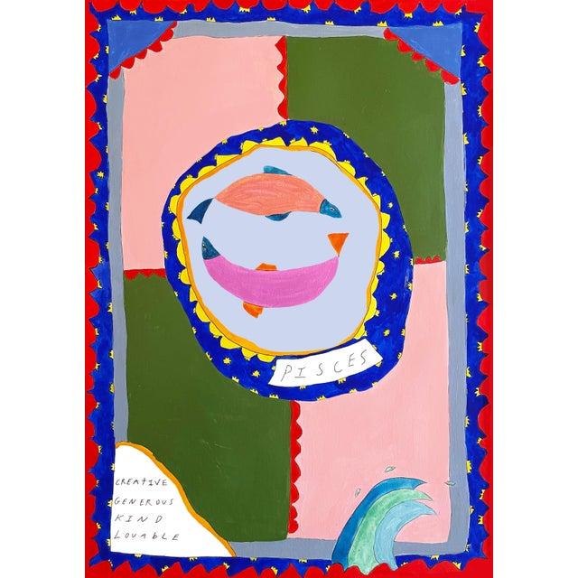 """""""Pisces Horoscope"""" Contemporary A4 Giclée Print For Sale"""