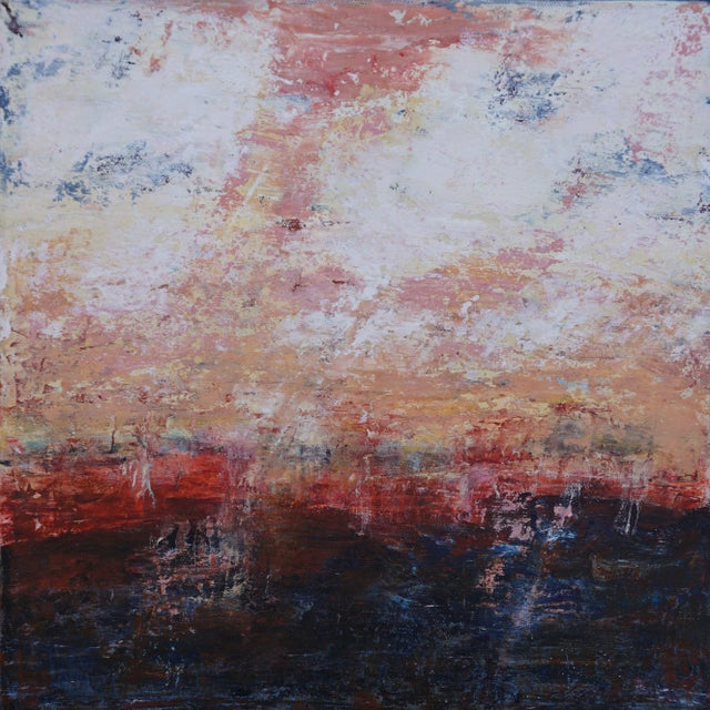 """2010s Original """"Alone Together"""" Abstract Painting by Laurie MacMillan For Sale - Image 5 of 5"""