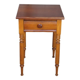 """19th Century Early American Cherry Side Table - 29"""" For Sale"""